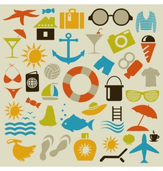 Beach an icon vector image