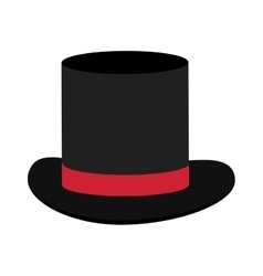 Black and red tophat vector
