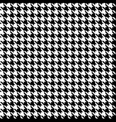 Black and white pattern houndstooth seamless vector