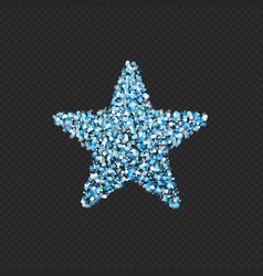 blue glitter star vector image