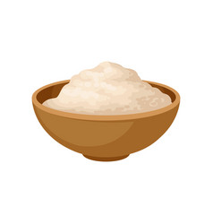 Bowl of soy flour healthy diet food vegan source vector