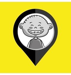 Boy child kids icon vector