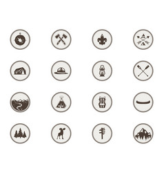 Boy scouts icons patches the full bundle vector