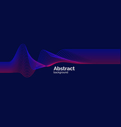 bright music poster with dynamic waves vector image