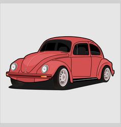 Carvolkswagen beetle vector