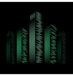 city neon vector image