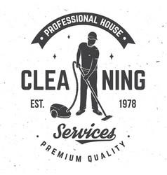 Cleaning company badge emblem vector