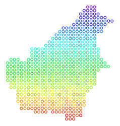 Colored borneo island map vector