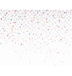 colorful confetti celebrations design isolated on vector image