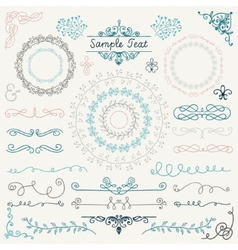 Colorful Hand Drawn Design Elements vector image