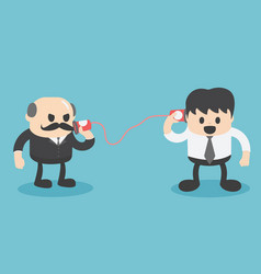 communication between business people vector image
