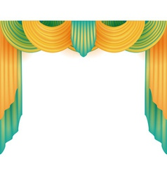 Curtain with a white background behind vector image