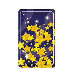 Divination card with stars vector