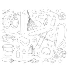 Doodle set cleanup vector