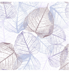 festive winter seamless pattern with hoarfrost vector image