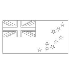 Flag of tuvalu 2009 vintage vector