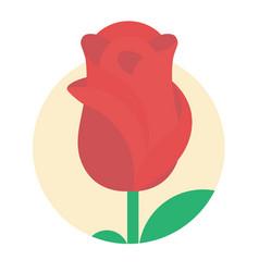 flat logo rose vector image