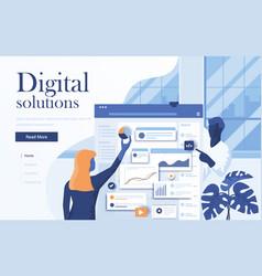 flat modern design digital solutions vector image