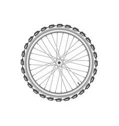 front monochrome wheel of bike vector image