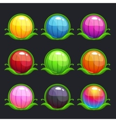 Funny cartoon colorful round buttons vector image