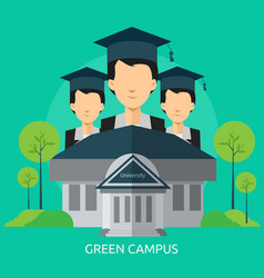 Green campus conceptual design vector