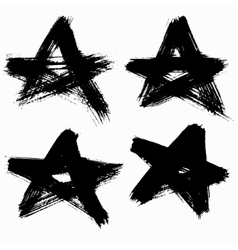 Grunge stars set vector
