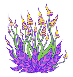 Hallucinogenic bright decorative fantastic vector