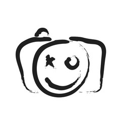 Happy face smile icon vector