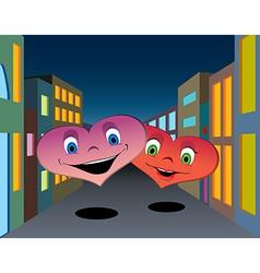 Happy hearts vector image