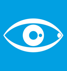 Human eye icon white vector