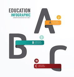 Infographic Education Font Template Design vector image