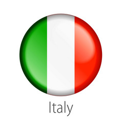 Italy round button flag vector