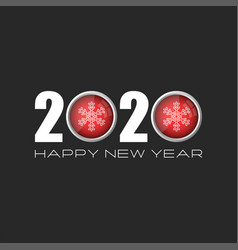 logo 2020 for a calendar or banner with text vector image