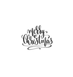 merry christmas hand lettering congratulation vector image