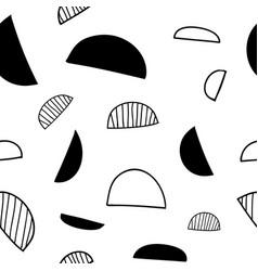 Minimalistic seamless geometric semicircle pattern vector
