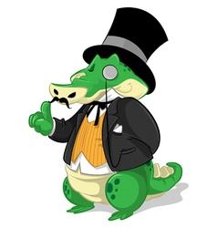 Mr Gator Cartoon vector