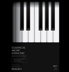 Music grand piano poster background template vector