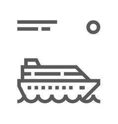 ocean liner sea voyage line icon vector image