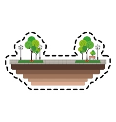 Park with trees vector