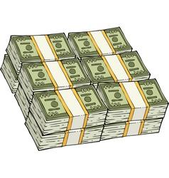 Pile cash vector