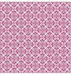 Pink damask seamless pattern background vector