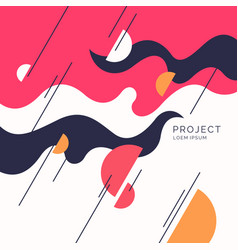 poster with dynamic waves in vector image