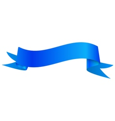 Realistic shiny blue ribbon isolated on white vector