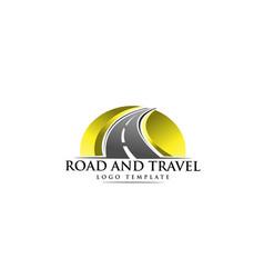 Road construction creative logo vector