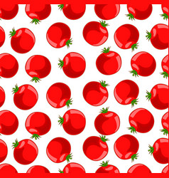 seamless pattern of ripe tomato vector image