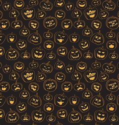 Seamless pattern Of Vintage Happy Halloween vector
