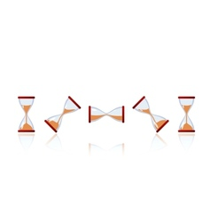 set of cartoon hourglasses vector image