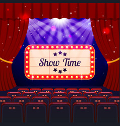 Show time concept vector