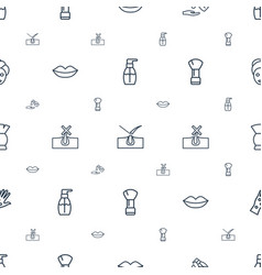 Skin icons pattern seamless white background vector