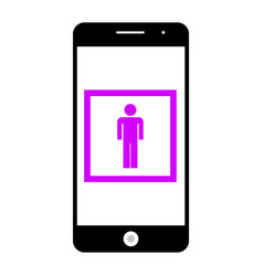 smartphone camera icon vector image